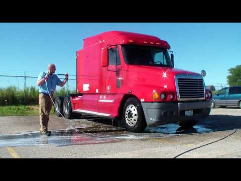 2-Step truck washing demo Hydro Chem Systems 800-666-1992