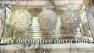 DIY Decorative decor balls.
