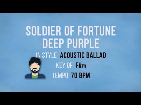 Soldier Of Fortune - Deep Purple - Karaoke Backing Track