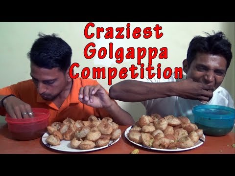 Craziest Golgappa Competition | Pani Puri eating Challenge | Food Challenge India