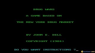 Drug Wars: A Game Based on the New York Drug Market gameplay (PC Game, 1984)