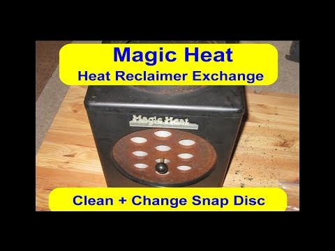 Wood Stove Magic Heat Re-claimer Exchange - Clean Re-Built for My Waste Oil Burning Stove