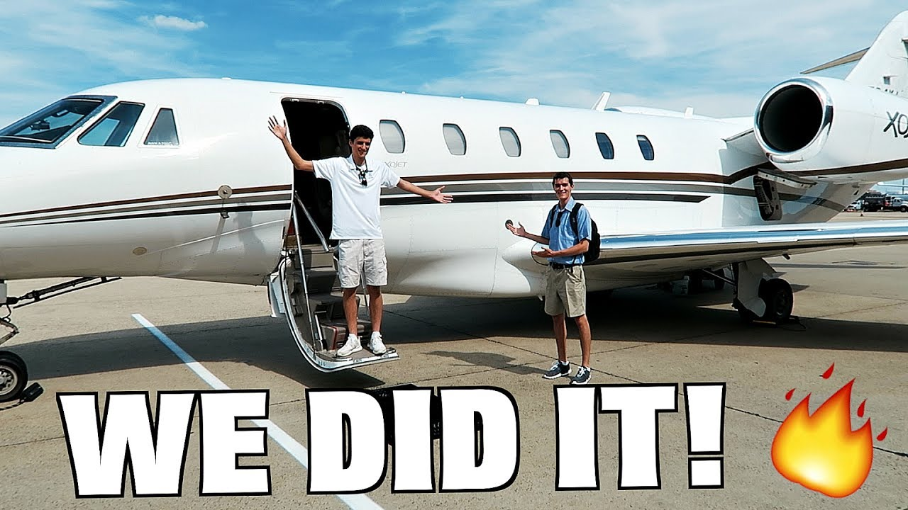 Private Plane With Garage : Skipping high school to ride on a m private jet youtube