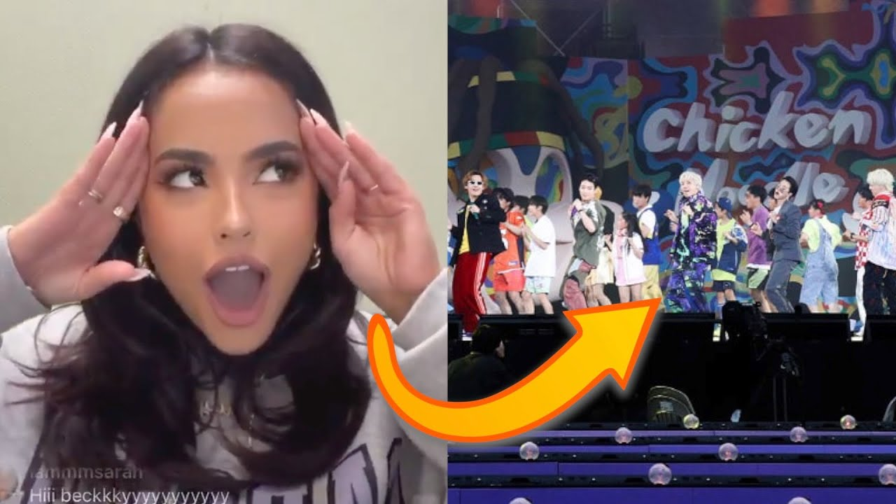 Becky G VIDEO REACTION to BTS' Chicken Noodle Soup! (Muster 2021)