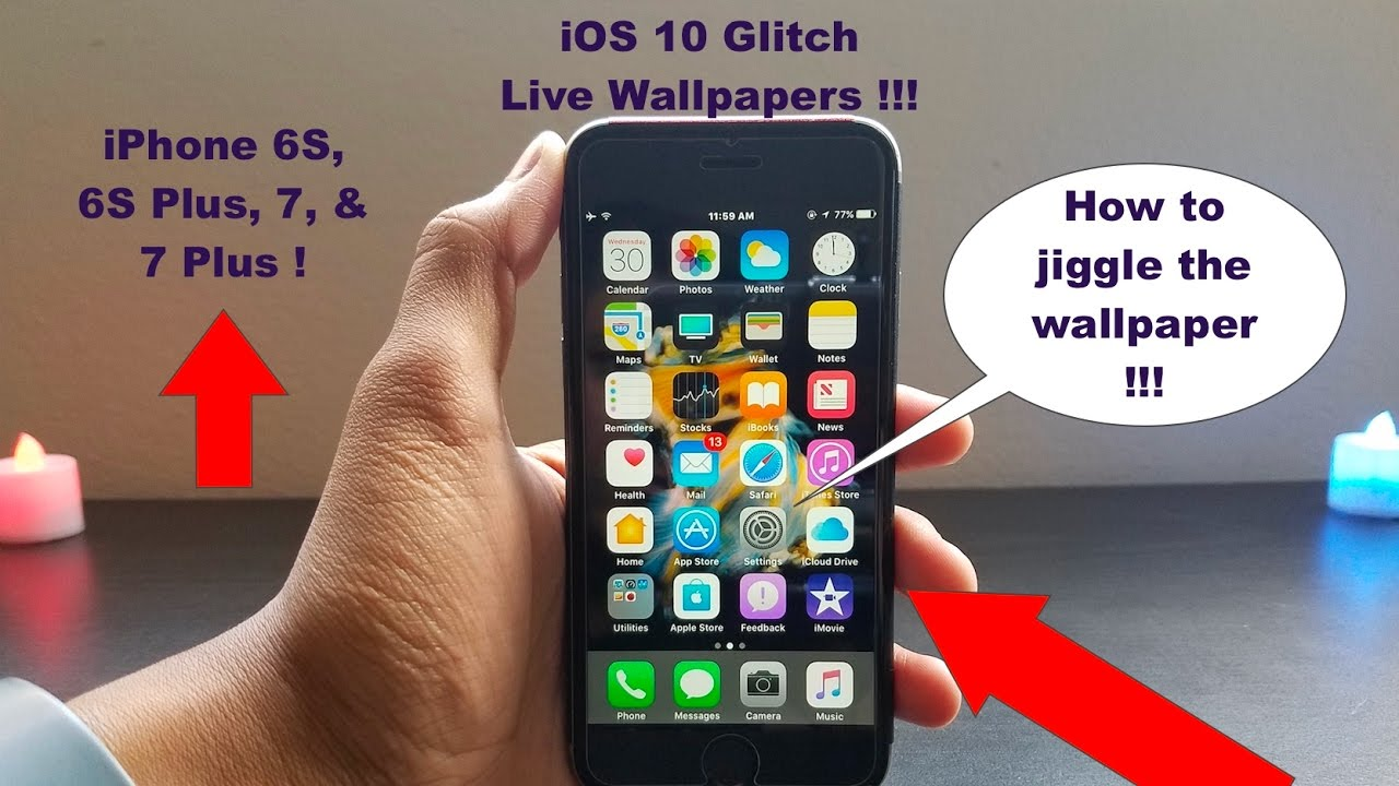 Live Wallpapers On IOS 10 Glitch No Jailbreak