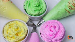 केक सजाने के लिए हर रंग के व्हिपड क्रीम कैसे बनाएं ।How to make Colourful whipped cream recipe Cake thumbnail