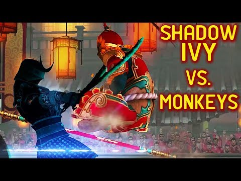Shadow Fight 3. Destroying Lunar Festival Event with Sabers. Shadow Ivy is ON FIRE!
