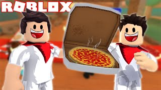 WE SET UP A PIZZERIA AT ROBLOX!!! Pizza Tycoon! 2