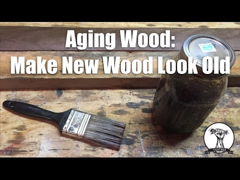 EASY way to Age Wood – Make New Wood Look Old