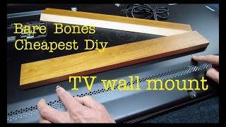 How to make ● CHEAPEST FLATSCREEN TV WALL MOUNT