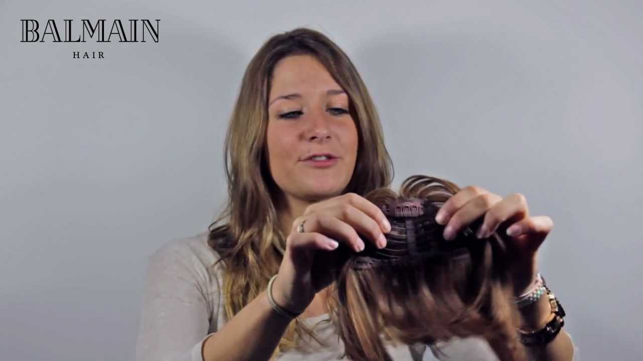 super cheap popular brand lowest discount Balmain Hair - Clip-In Fringe - How to apply yourself