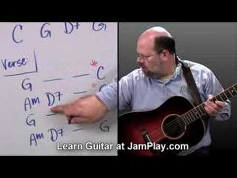 Jingle Bells Guitar Lesson - Christmas Songs