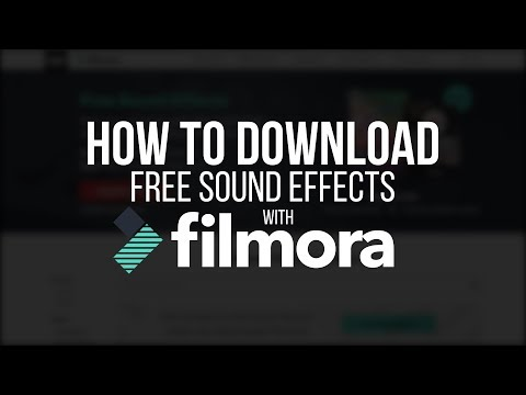 How to Download FREE Sound Effects using Filmora! (2018)