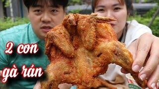 [Hàn Quốc] Quá đói 2 đứa ăn 2 con Gà Rán vàng giòn rụm cực ngon