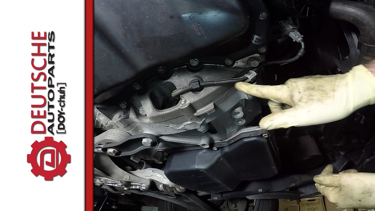 how to install a vw 5 cyl 2 5 engine crank position sensor