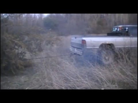 Dodge Ram Diesel 2500 Pulling Out an 18 Foot Tree ROOTS and All