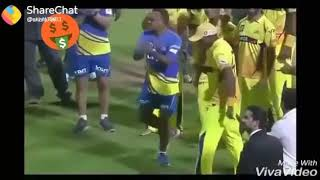 CSK dance.. Village DJ music. Thala dance style.. DJ Bravo style.. Whistle podu.. CSK mass