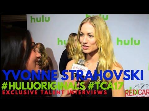Yvonne Strahovski interviewed at Hulu Original Series Winter TCA Talent Event #TCA17