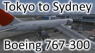 FSX | Japan Airlines Tokyo (RJAA) to Sydney (YSSY) | 767-300