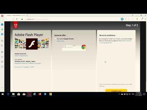 Как за пару кликов можно установить Adobe Flash Player