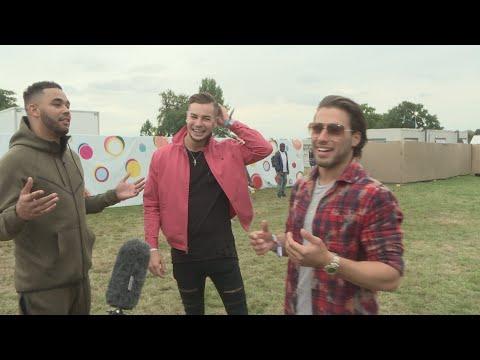 V Festival: Love Island's Chris and Kem on their new TV show