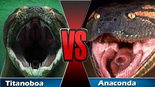 Titanoboa  X  Anaconda   Evolution  -  Jurassic Clips (Batalha 3.0)