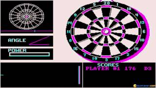 Darts gameplay (PC Game, 1989)