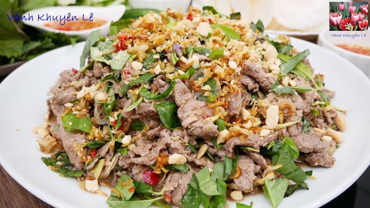 BÒ TÁI CHANH – Cách làm món Gỏi Bò thơm lừng – Cách trồng Rau Răm trong Mùa Đông by Vanh Khuyen