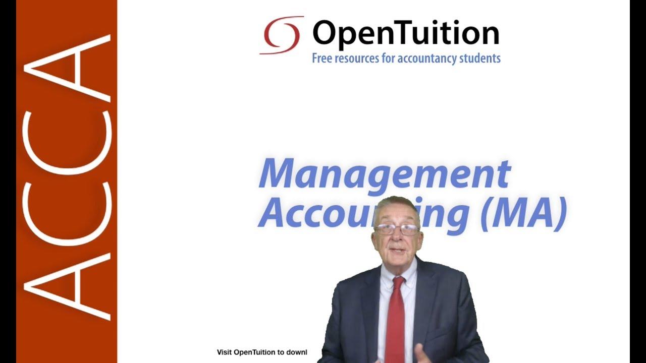 Management Accounting (MA)/FMA