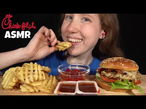 ASMR CHICK-FIL-A CHICKEN SANDWICH MUKBANG (Collab With Twilight ASMR) EATING SOUNDS | SongByrd ASMR
