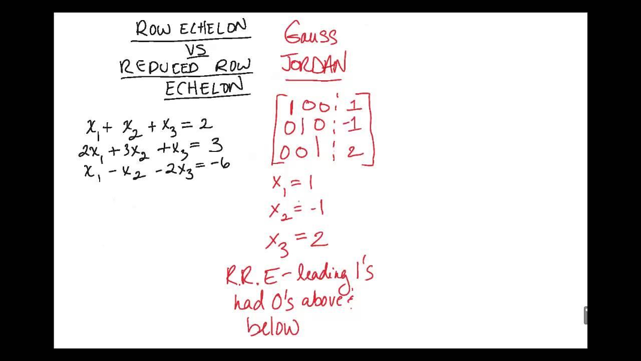 Math][Linear Algebra]-Row Echelon vs Reduced Row Echelon-Concept ...