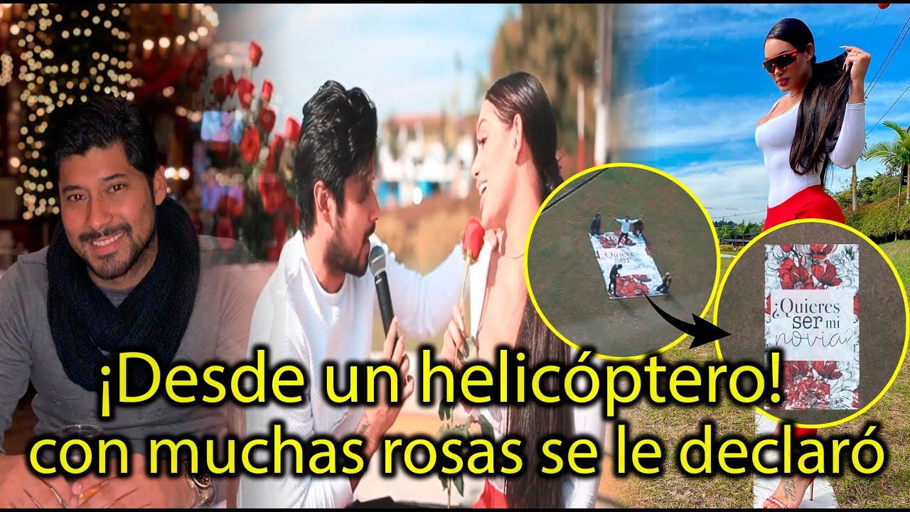 Desde un helicóptero! Andrea Valdiri y Lowe León oficializan su noviazgo