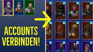 RELATED TO SKINS and V-BUCKS🔗(Connect two accounts😱) - Fortnite - TheReals