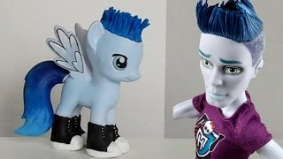 Slo Mo Mortavitch Themed My Little Pony repaint - Monster High