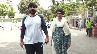 Sonali Bendre With Husband Goldie Behl Arrives For Vote In Mumbai 2019