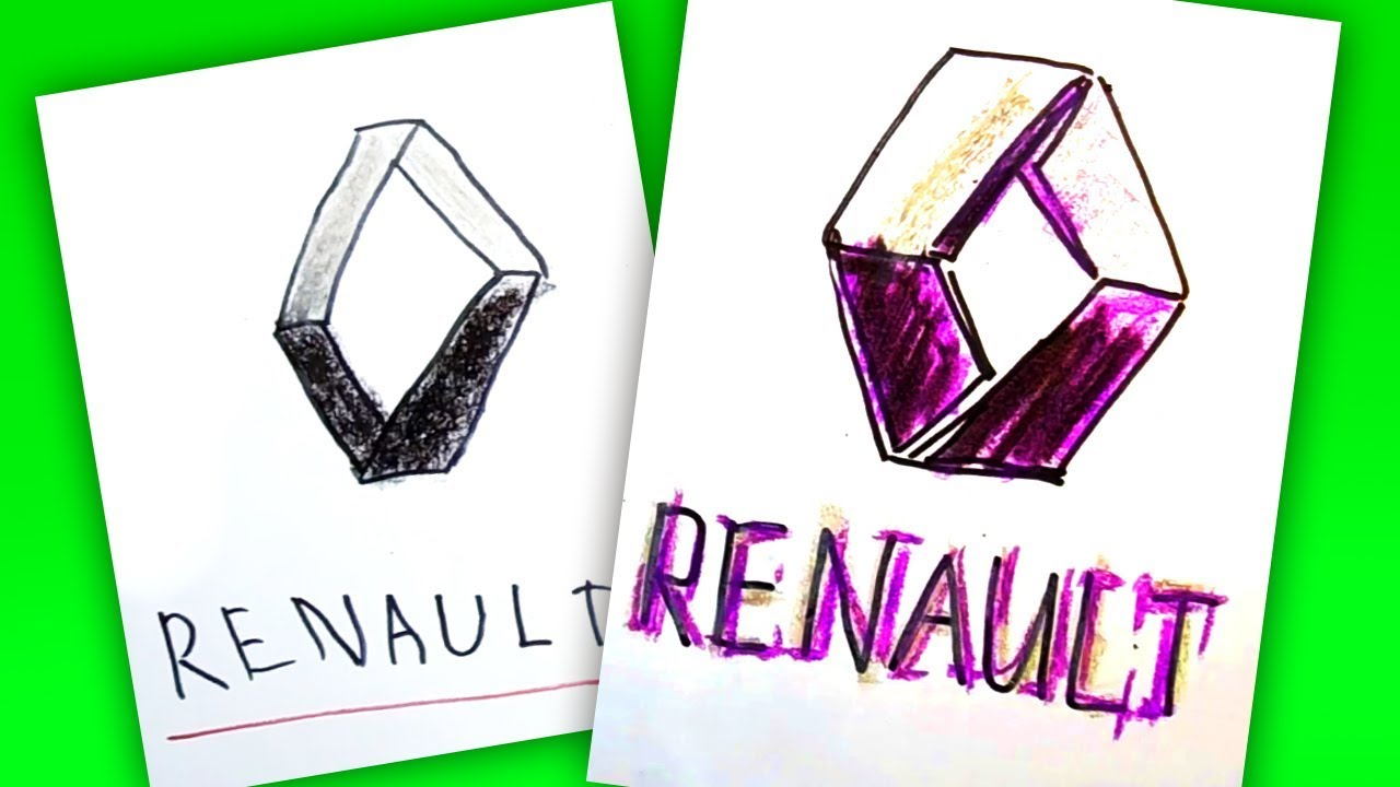How To Draw Renault Logo Auto Logo Car Youtube