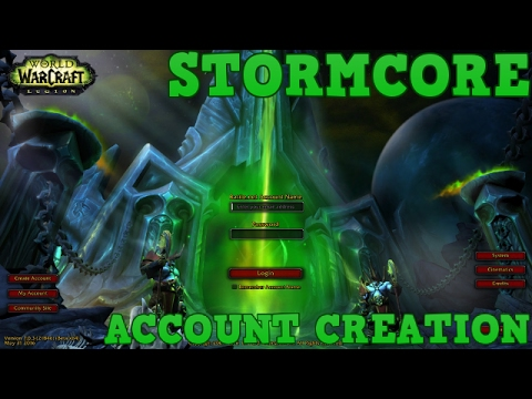 How to create an account - StormCore/TrinityCore 7 1 5