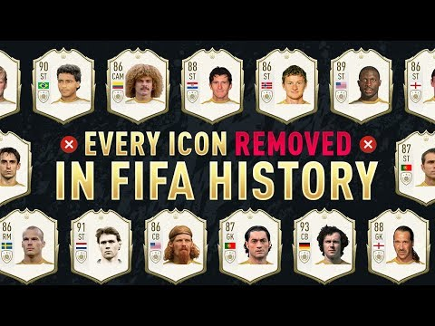 All 23 Icons REMOVED From FIFA 20 (Ultimate Team History)