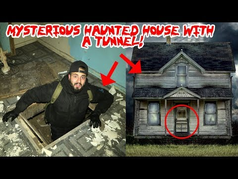 I FOUND A MYSTERIOUS HOUSE IN THE WOODS WITH A HAUNTED TUNNEL & DISCOVERED THIS!!