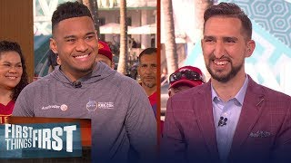Tua Tagovailoa talks NFL draft, future in the league and more | FIRST THINGS FIRST | LIVE FROM MIAMI