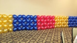How To Make Balloon Wall - Lattice Style?