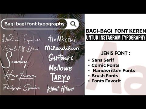 Bagi Bagi Font Typography Instagram & Cara Download Font Nya | Yogi Surya