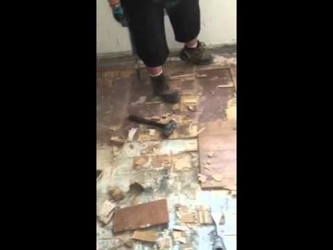 How To Remove Glued Wood Flooring From Concrete Slab Youtube