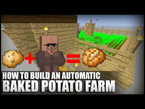 How to Make an Automatic Baked Potato Farm in Minecraft