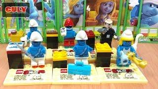 Bộ 6 Lego Xì Trum xanh xanh cute The Smurfs Les Schtroumpfs