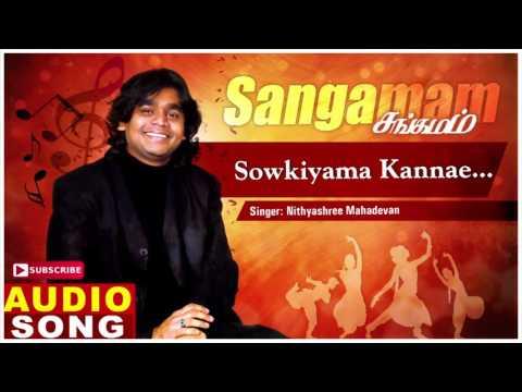 Sowkiyama Kannae Song   Sangamam Tamil Movie Songs   Rahman   Vindhya   AR Rahman   Music Master