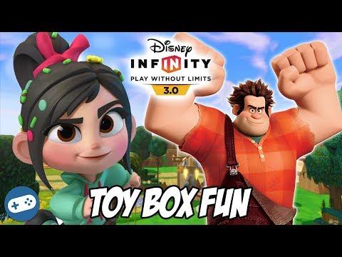 Wreck It Ralph Disney Infinity 3.0 Toy Box Fun Gameplay Part 2