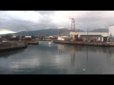 Le chenal du Port Ouest Réunion.