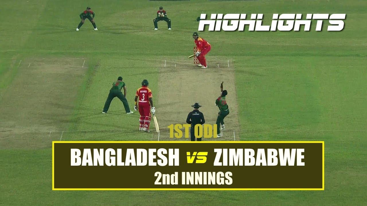 Bangladesh vs Zimbabwe Highlights    1st ODI    2nd Innings    Zimbabwe tour of Bangladesh 2018