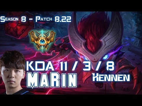 MaRin KENNEN vs KZ Khan AATROX Top - Patch 8.22 KR Ranked